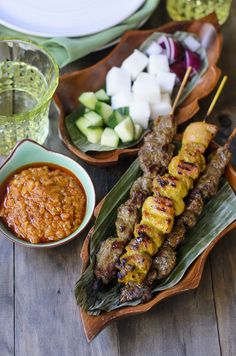 From My Lemony Kitchen ....: Beef and Chicken satay