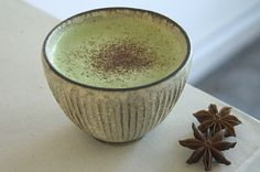 Matcha Chai Latte - A mood for your soul and palate. Blend matcha with chai spices and warm almond milk.