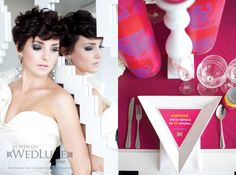 I'm pinning because of her hair | Style File: A Warhol Wedding | WedLuxe Magazine
