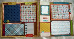 Scrapbooking by Phyllis: Premade 12x12 Scrapbook Pages for Boy