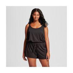 c0b7ffc0cb8 Women s Plus Size Romper Black ( 20) ❤ liked on Polyvore featuring swimwear