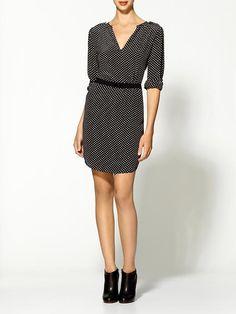 Mariola Small Dot Silk Dress