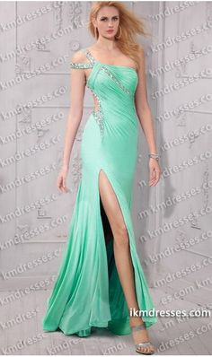 breathtaking beaded one shoulder cut out waist front side slit strapped open back dress Blue Dresses http://www.IkmDresses.com/breathtaking-beaded-one-shoulder-cut-out-waist-front-side-slit-strapped-open-back-dress-p59406