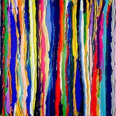 Color your life - Peinture,  60x60x3 cm ©2016 par Peinture énergétique -                                                                                                                                                        Art abstrait, Art conceptuel, Art déco, Modernisme, Pop Art, Toile, Art abstrait, Couleurs, Fantaisie, Géométrique, Lumière