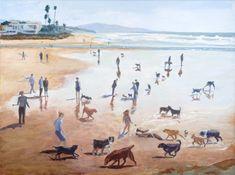 Smiling Dogs  WENDY GAUNTLETT-SHAW - ARTIST  Del Mar Dog Beach