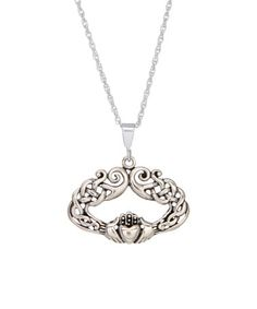 Look at this #zulilyfind! Sterling Silver Fancy Claddagh Pendant Necklace by Posh Silver Company #zulilyfinds