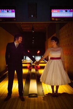 Vintage bowling wedding