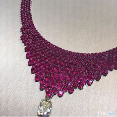 A spectacular @stenzhorn Ruby and Diamond necklace