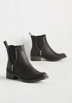 Casual Influence Boot in Matte Black. Ever since uniting with these black Rocket Dog booties, youve assembled a myriad of low-key looks to accompany them. #black #modcloth
