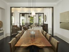Gold Coast Neutral transitional-dining-room