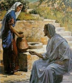 Philip De Vere presents 37 The Samaritan woman at the well Harry Anderson Pictures Of Jesus Christ, Bible Pictures, Christian Paintings, Christian Art, Lds Art, Bible Art, Harry Anderson, Bible Illustrations, Biblical Art