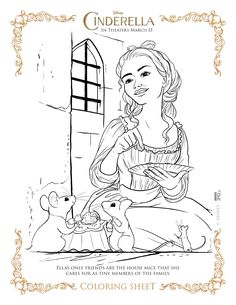 new disneys cinderella coloring pages and activity sheets - Disney Princess Art And Activity Collection