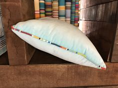 Aqua Velvet Cushion piped all around with ANY of our beautiful striped fabrics. Velvet Cushions, Cotton Velvet, Striped Fabrics, Bed Pillows, Pillow Cases, Aqua, Stripes, Beautiful, Color
