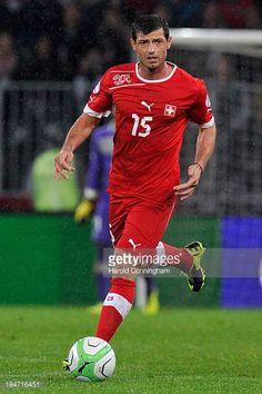 Blerim Dzemaili of Switzerland in action during the FIFA 2014 World Cup Qualifier match between Switzerland and Slovenia match held at Stade de...