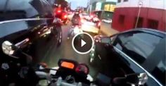 This Guy Is Absolutely Nuts The Way He Snakes Through Traffic In Brazil
