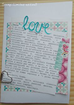 Scrap... Limited edition!!: Card Love