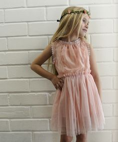 Look at this #zulilyfind! Light Pink Vintage Zoe Lace Dress - Girls by Knuckleheads #zulilyfinds