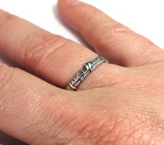 Clarinet Ring Sterling Silver Ox Finish by BellaMantra on Etsy