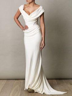 Vivienne Westwood Gold Label Cocotte Georgette Drape Dress in Purple (ivory)… Vivienne Westwood Kleider, Vivienne Westwood Wedding Dress, Draped Dress, Dress Up, Dress Robes, Smocked Dresses, Bridal Gowns, Wedding Gowns, Party Wedding
