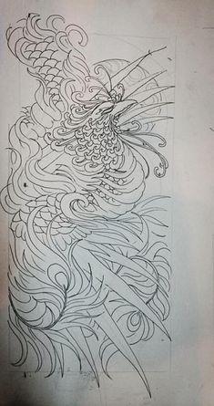 1 Tattoo, Body Art Tattoos, Sleeve Tattoos, Tatoo Styles, Small Phoenix Tattoos, Totem Tattoo, Phoenix Art, Japanese Tattoo Art, Traditional Japanese Tattoos