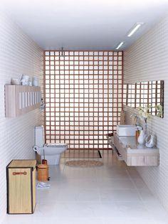 Banheiro planejado por Gustavo Calazans.