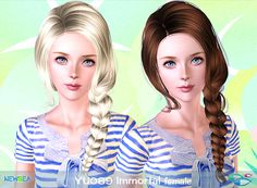 YU 089 Immortal - fishtail by NewSea for Sims 3 - Sims Hairs - http://simshairs.com/yu-089-immortal-fishtail-by-newsea/