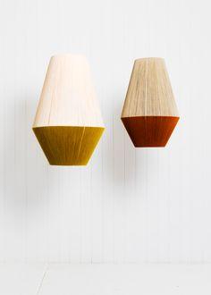 Dream Weavers by Pop & Scott – Lighting Ideas Hanging Lamp Shade, Lamp Shades, Pop And Scott, Lampshade Redo, Minimalist Decor, Lamp Light, Interior Inspiration, Decoration, Home Improvement