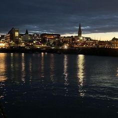 Harbour lights at dusk #nofilter #dunlaoghaire #discoverireland #discoverdublin O Reilly, Dusk, Dublin, Ireland, Lights, Instagram, Irish, Lighting, Rope Lighting