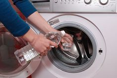 How to Clean the Inside of a Washing Machine. Everything needs to be cleaned once in a while, and a washing machine is no exception. After washing loads of dirty laundry, the inside of the machine can get stained, and odors may cling to. Diy Cleaning Products, Cleaning Solutions, Cleaning Hacks, Clean Your Washing Machine, Clean Machine, Washing Machines, Laundry Hacks, Cleaners Homemade, Laundry Detergent