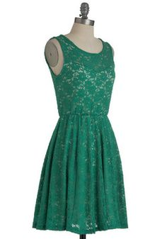 Topiary Artist Dress, ModCloth.com      (Love this green lace dress!)