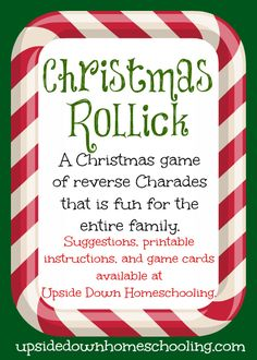 Fun 'n Games - Christmas Rollick: a fun game for the entire family {printable instructions and game cards included} Xmas Games, Holiday Games, Holiday Fun, Halloween Games, Halloween Party, Fun Games, Little Christmas, All Things Christmas, Winter Christmas