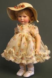 Doll from 1930. Mum would love this one. She has a fancy for beautiful vintage dolls.
