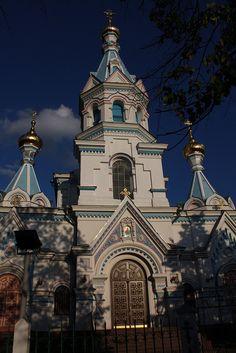 Russian Orthodox cathedral in Daugavpils, Latvia