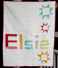 Cute name quilt.. and it happens to be my future daughter's name!