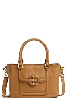 Tory Burch Amanda Mini Satchel in Royal Tan -- More info could be found at the image url.