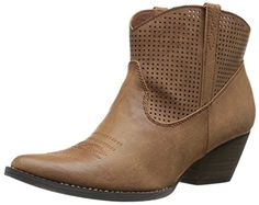 "Very Volatile Women's Mishka Western Boot #shoes http://www.theshoespack.com/very-volatile-womens-mishka-western-boot/  Very Volatile Women's Mishka Western Boot Time for a night out in this Western style with flair!Faux tumbled leather upper with perfed detailsPull-on designLightly cushioned footbed2-1/2"" heel height"