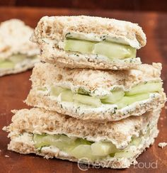 Lemony Cucumber Cream Cheese Sandwiches Recipe - RecipeChart.com