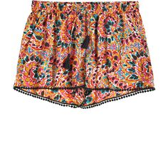 CALYPSO St. Barth Bristol Mosaic Paisley Printed Short ($129) found on Polyvore