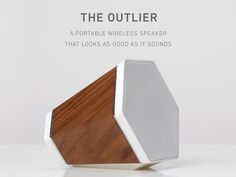 THE OUTLIER - Wireless Wood Speakerby Recover