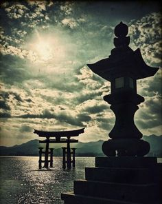 """ITSUKUSHIMA.......PARTAGE OF THERE IS ONLY ONE JAPAN......Toro can be classified into two main types, tsuri-doro (釣 灯籠 掻 灯 · · 吊 り 灯籠, lit. """"hanging lamp""""), which are usually suspended from the eaves of a building, and dai-doro (台 灯籠, lit. """"platform lamp"""") used in gardens and along the approach (Sando) of a shrine or temple.............."""