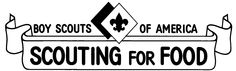 Boy Scout Scouting for Food SVG SCAL