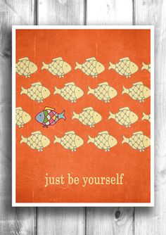 Be Yourself - Fine art letterpress poster – Happy Letter Shop