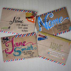 Inspiration in envelopes.