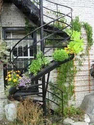 Ideas For Spiral Stairs Outdoor Stairways Garden Stairs, Garden Bridge, External Staircase, Green Theme, Rooftop Garden, Garden Pictures, Garden Projects, Garden Ideas, Stairways