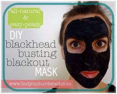 DIY all-natural blackhead busting blackout mask!!! 2 capsules of activated charcoal (approximately 0.2 grams) opened and emptied. To open gelatin capsules, simply twist the two halves and gently pull them apart as in the picture below. 1/2 teaspoon of bentonite clay 1 1/2 teaspoons of water