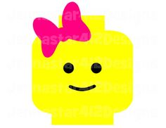 Lego Inspired Lego Head With Bow DIY Printable Iron On Transfer Digital File on Etsy, $2.00