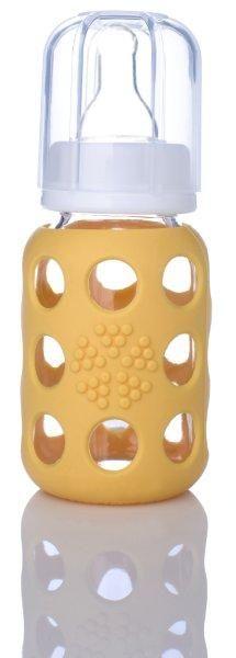 Lifefactory Glasbabyflasche Yellow, 120 ml