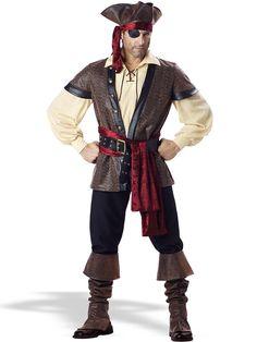 Rustic Pirate Costume | Wholesale Pirate Costumes for Men