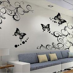 Наклейка №128 3D наклейка на стену. В 1 комплект входит: 4 бабочки и 2 винограда. Отличный декор для спальни или гостиной. Наклейки можно использовать не только для стены, но и для другой чистой поверхности: зеркала, шкафы, окна. Снимается легко, не оставляет липких следов. #decohata_shop #butterfly #декор #декохата #наклейканастену #купитьстикернастену