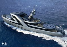 #H2YachtDesign are well known for their futuristic design concepts. www.pureyacht.com #ownyourrefit
